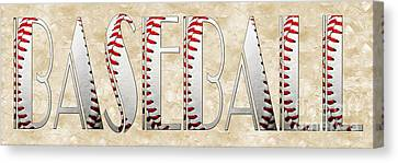 The Word Is Baseball Canvas Print by Andee Design