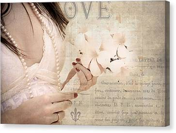 The Words You Say. Love Letters Canvas Print by Jenny Rainbow