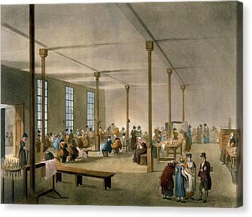 The Workhouse, St James, Parish, London Canvas Print by T. & Pugin, A.C. Rowlandson