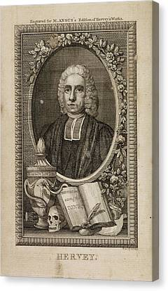 The Works Of The Late Reverend James Herv Canvas Print by British Library