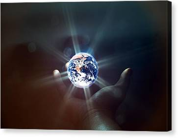 The World In The Palm Of Your Hand Canvas Print