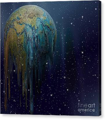 The World Is Melting Canvas Print by Liane Wright