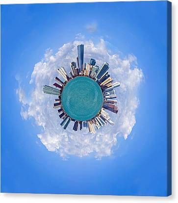 The World Of Miami Canvas Print by Carsten Reisinger