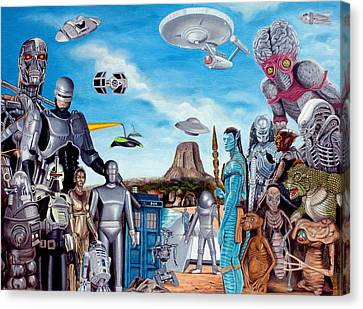 The World Of Sci Fi Canvas Print by Tony Banos