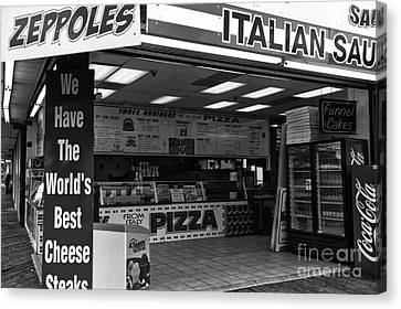 The Worlds Best Cheese Steaks Mono Canvas Print