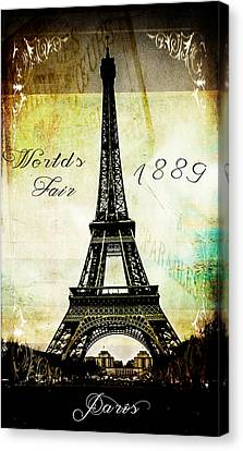The Worlds Fair Of 1889 Canvas Print