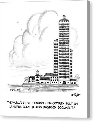 The World's First Condiminium Complex Built Canvas Print by Warren Miller