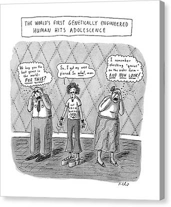 The World's First Genetically Engineered Human Canvas Print by Roz Chast