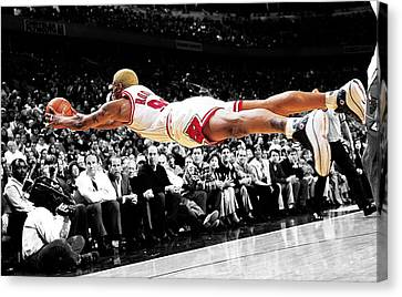 The Worm Dennis Rodman Canvas Print by Brian Reaves