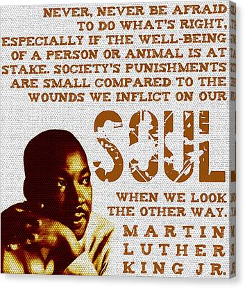 Racism Canvas Print - The Wounds We Inflict On Our Soul by Michelle Dallocchio