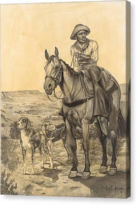 The Wrangler Canvas Print by Howard DUBOIS