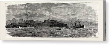 The Wreck Of The Hanoverian At Portugal Cove Canvas Print