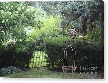 The Wrought Iron Gate Canvas Print by Yvonne Wright