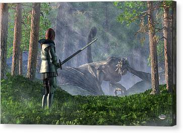 The Wyvern Canvas Print