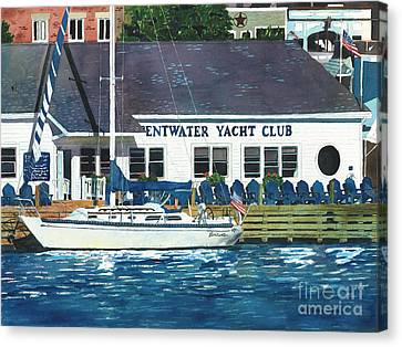 The Yacht Club Canvas Print