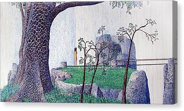 Canvas Print featuring the painting The Yearning Tree by A  Robert Malcom