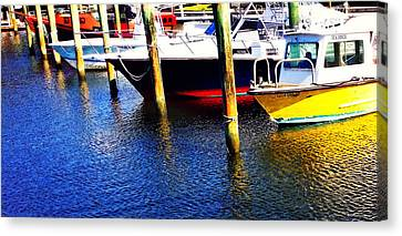 The Yellow Boat - Coastal Art By Sharon Cummings Canvas Print by Sharon Cummings