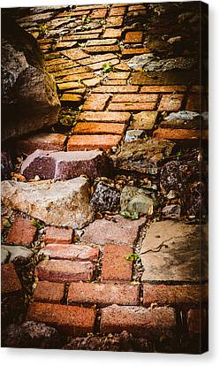 Canvas Print featuring the photograph The Yellow Brick Road by Beverly Parks