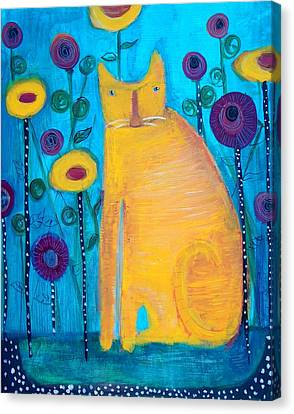 The Yellow Cat Canvas Print by Linda MorganSmith