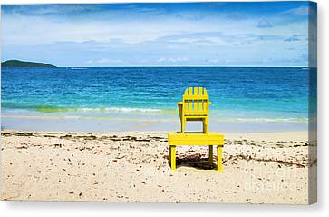 The Yellow Chair Canvas Print by Betty LaRue