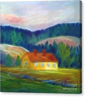 The Yellow Cottage Canvas Print by Lutz Baar