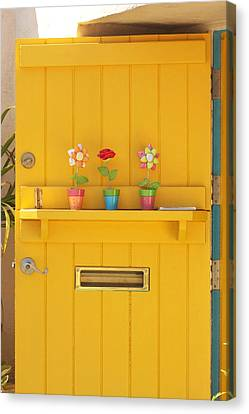 The Yellow Door Canvas Print by Art Block Collections