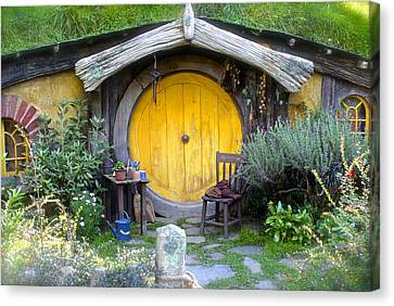 Yellow Hobbit Door Canvas Print