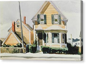 The Yellow House Canvas Print by Edward Hopper