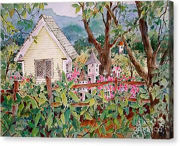 Split Rail Fence Canvas Print - The Yellow Potting Shed by Sherri Crabtree