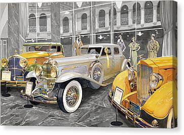 1933 Canvas Print - The Yellow Ribbon by Mike Hill