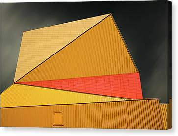 Architect Canvas Print - The Yellow Roof by Gilbert Claes