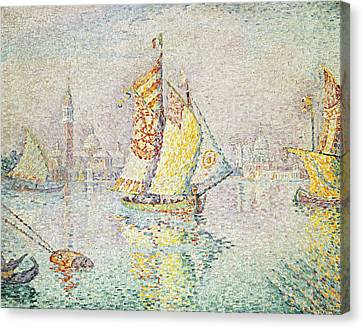 The Yellow Sail, Venice, 1904 Canvas Print by Paul Signac