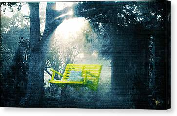 The Yellow Swing Canvas Print by Douglas MooreZart