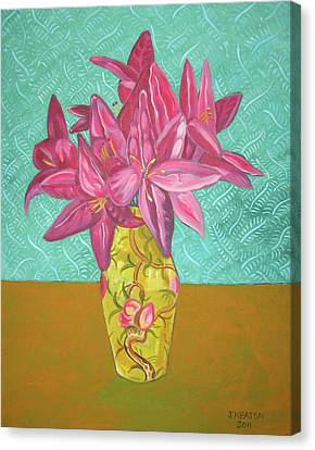The Yellow Vase Canvas Print by John Keaton