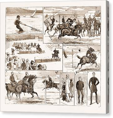 Orthodox Canvas Print - The Yeomanry Week At Weymouth, Uk, 1881 1. Business by Litz Collection