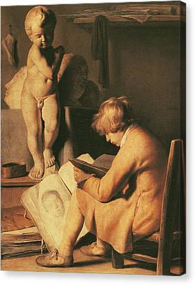 The Young Artist Canvas Print by Jan the Elder Lievens