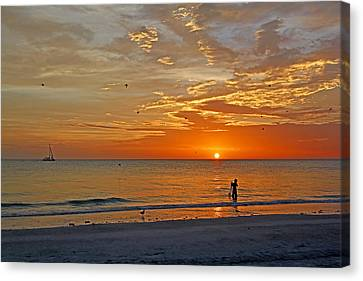 The Young Fisherman Canvas Print by HH Photography of Florida