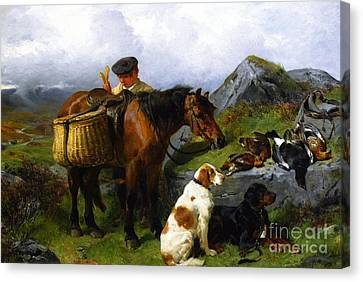 The Young Gamekeeper Canvas Print by Celestial Images