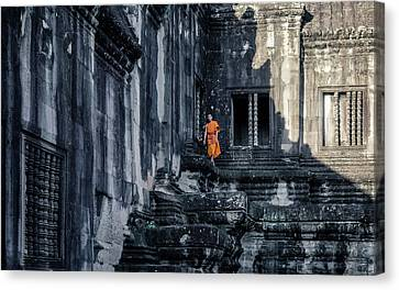 The Young Monk Canvas Print