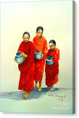 The Young Monks Canvas Print