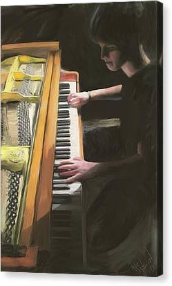 The Young Pianist Canvas Print by Michael Malicoat