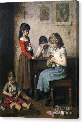 The Young Seamstress Canvas Print
