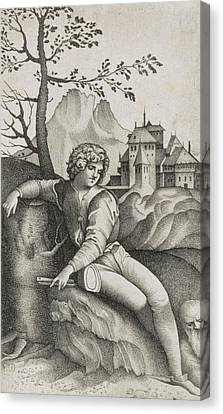 The Young Shepherd Canvas Print by Giulio Campagnola