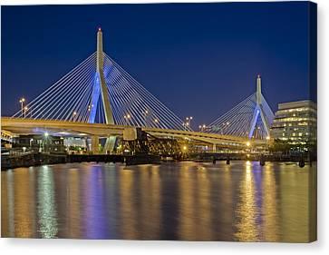 The Zakim Bridge Canvas Print by Susan Candelario