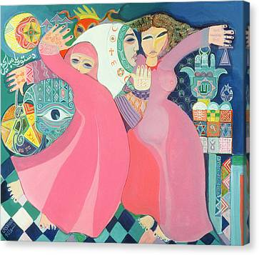 The Zar II, 1992 Acrylic On Board Canvas Print by Laila Shawa