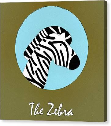 The Zebra Cute Portrait Canvas Print
