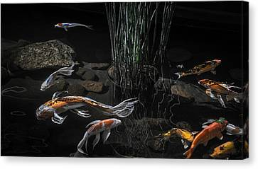 Canvas Print featuring the photograph The Zen Of Koi by Glenn DiPaola