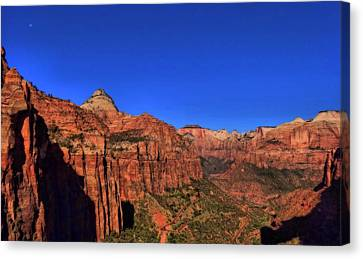 The Zion Valley From The Outlook In Utah Canvas Print by Dan Sproul