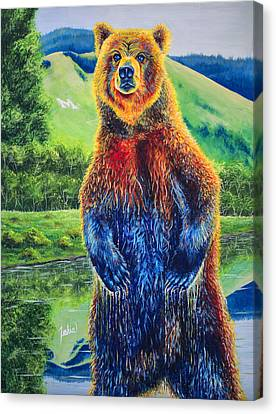 Glacier National Park Canvas Print - The Zookeeper - Special Missoula Montana Edition by Teshia Art