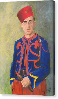 Infantryman Canvas Print - The Zouave by Dominic Sanson